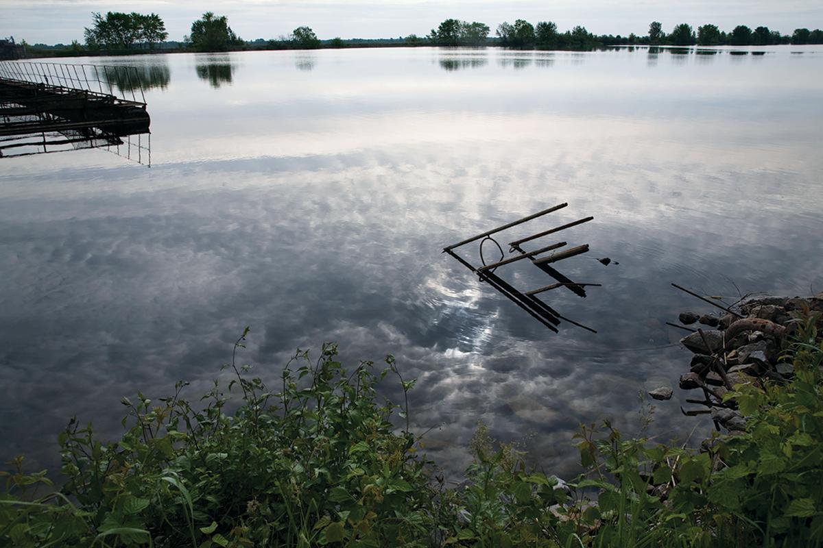 Chernobyl pond