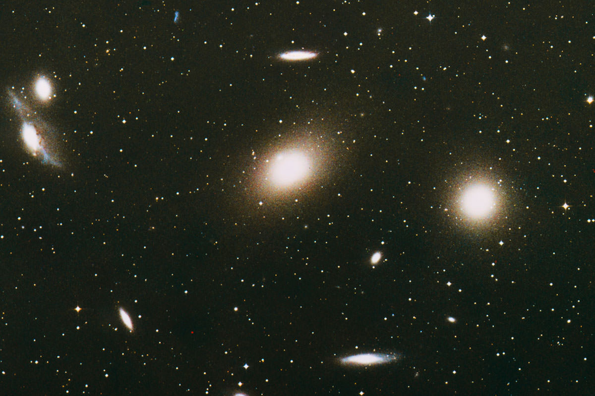 Optical image of a portion of Virgo cluster