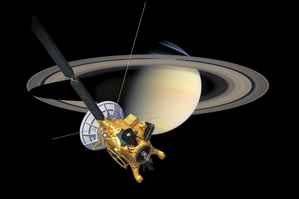 Cassini circling Saturn