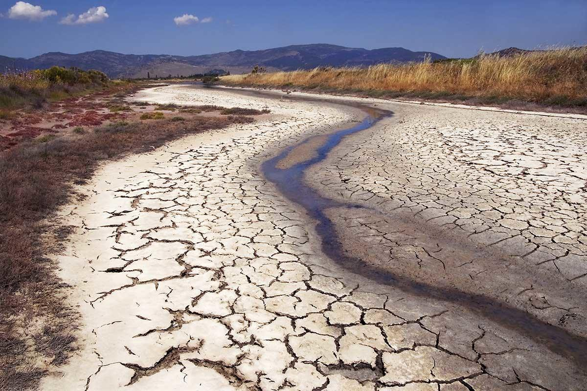 Dried out river in Greece