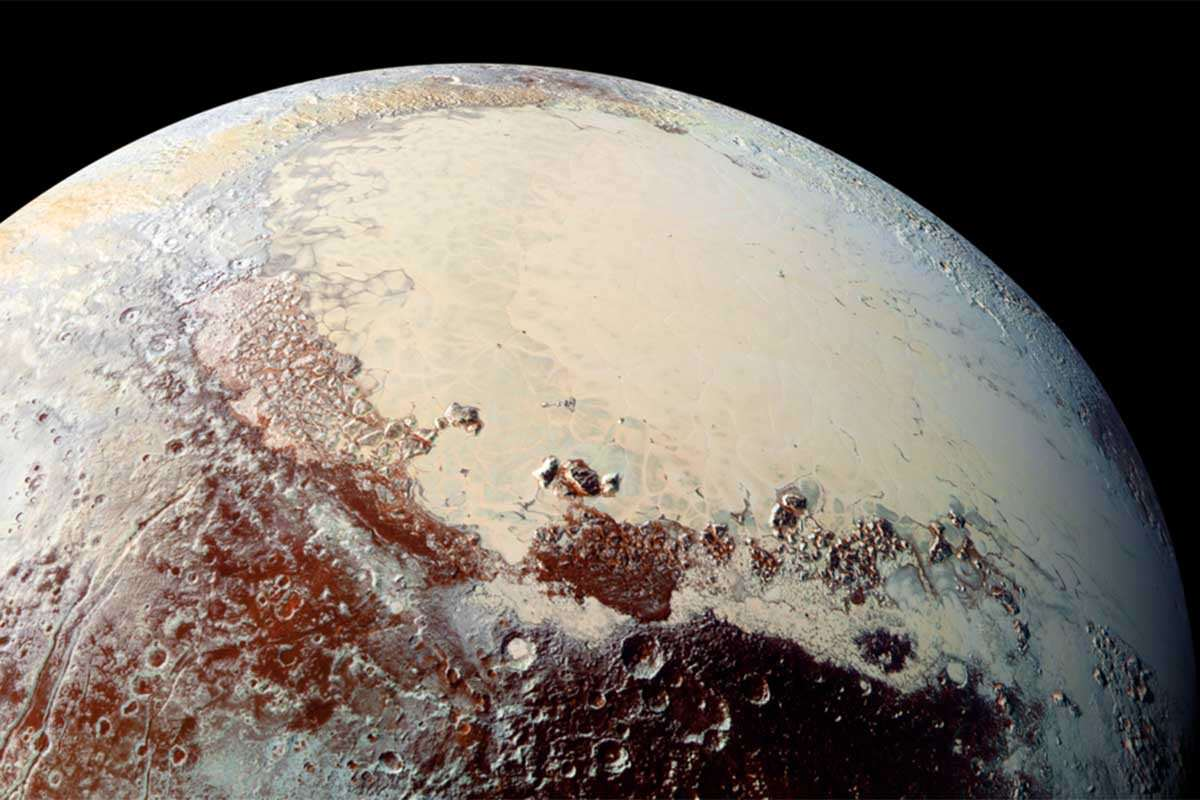 Photo of Pluto from New Horizons's recent trip