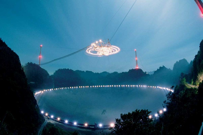 The Arecibo radio astronomy dish