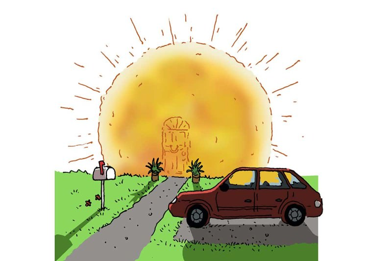 Sun cartoon