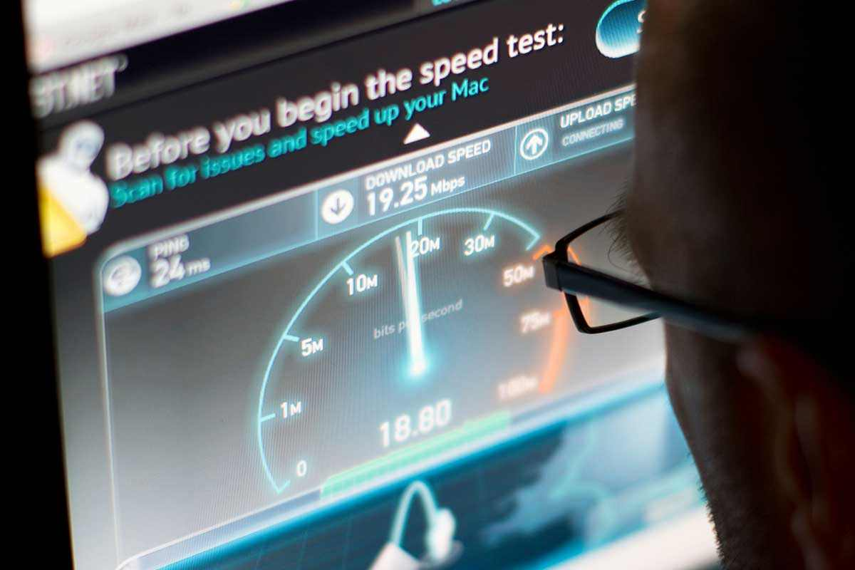 Broadband speed test under way