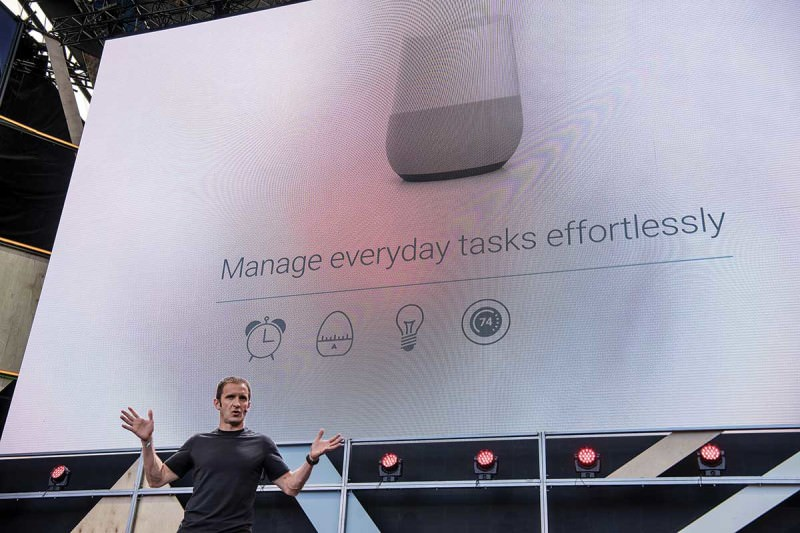 The Google assistant being announced