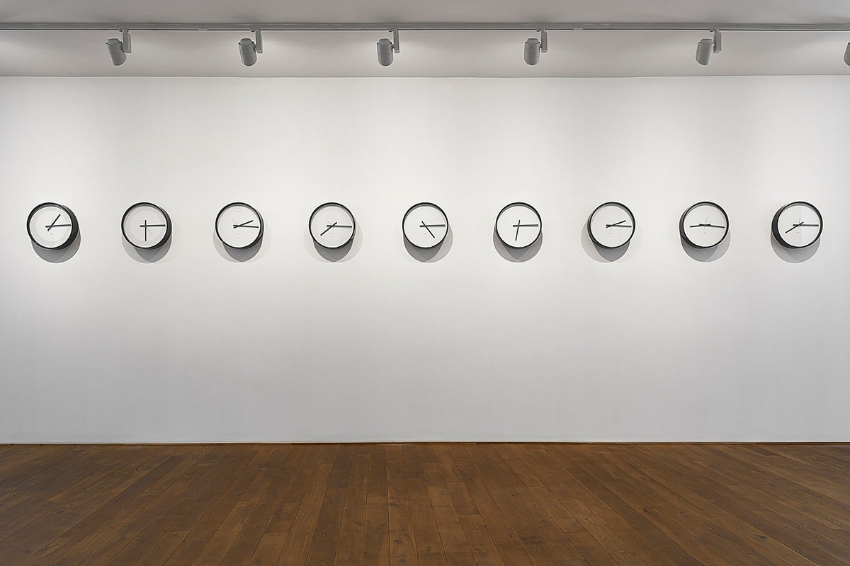 Clocks showing different times