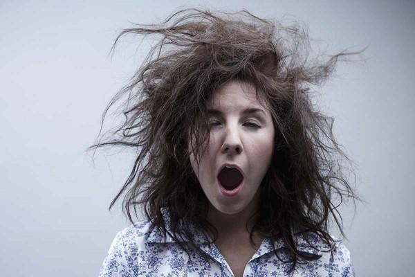 hairy woman sleep