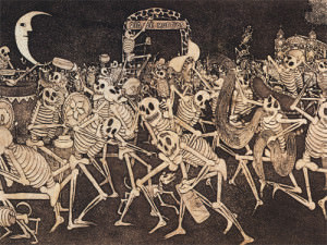 Drawing a skeleton carnival