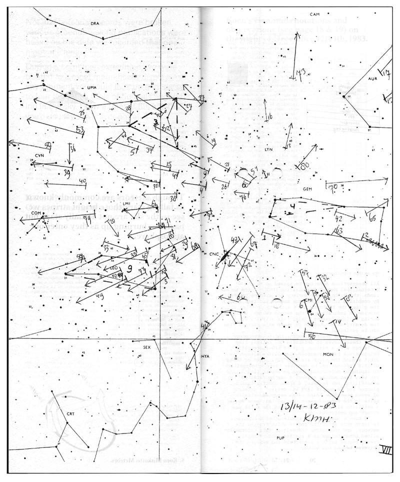 Koen Miskotte's Geminids observations on the night of December 12/13th, 1983