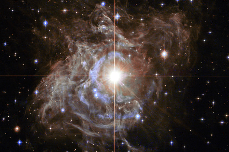 The star RS Puppis, which varies in brightness