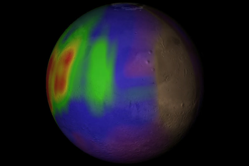Map of Mars's methane