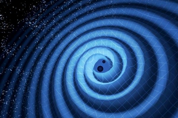 Two black holes spiralling together