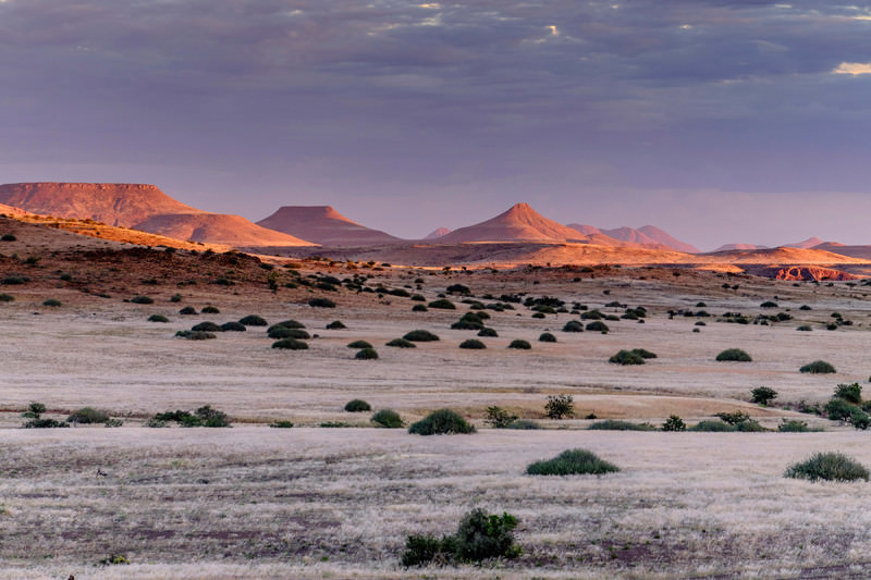 Sun sets on Damaraland, Namibia