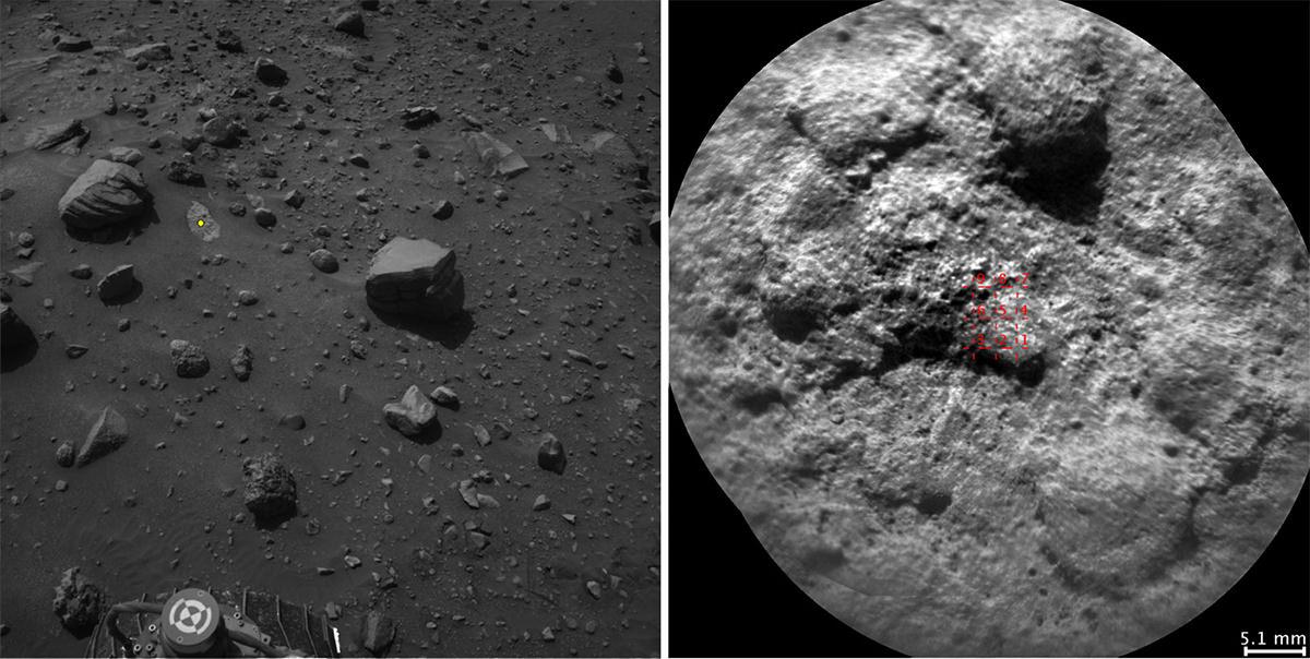 Rocks on Mars, as seen by Curiosity