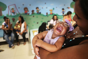 An infant with microcephaly caused by zika infection