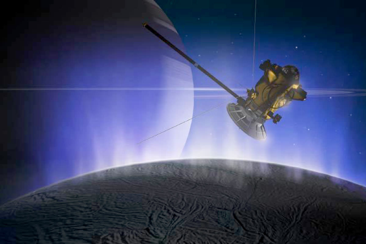 Fleet of robots could hunt for life on icy moon Enceladus