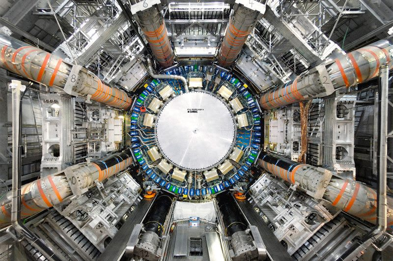 A view of the ATLAS detectors at the Large Hadron Collider