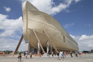 A view from the front of the gigantic Ark