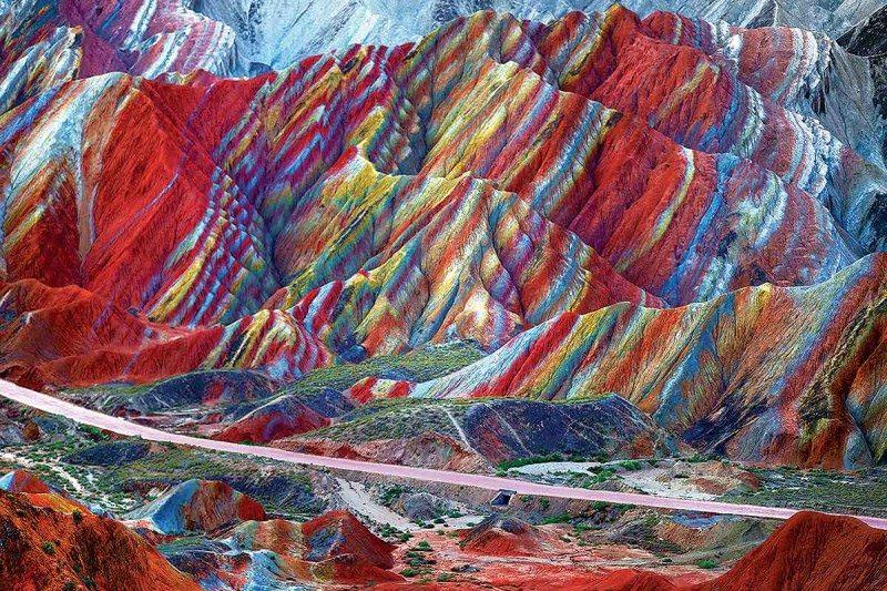 montañas del arco iris