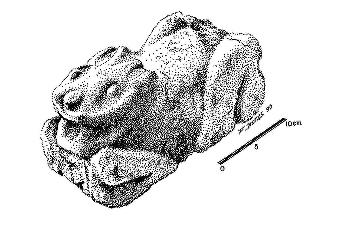 Illustration of rabbit sculpture