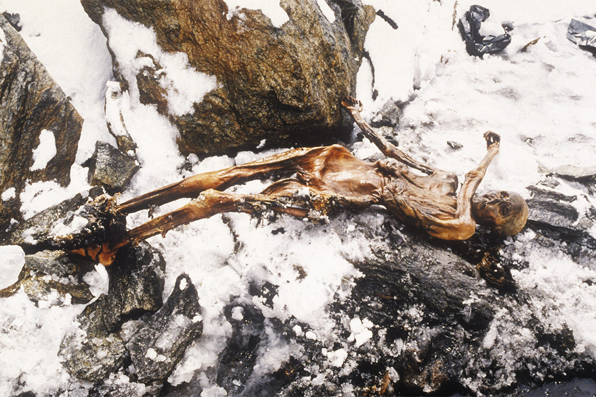 Ötzi was discovered on the Similaun mountain on the Austrian-Italian border