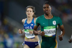 She has no more advantage than any other elite athlete