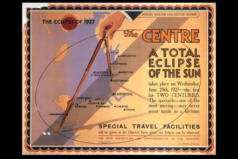 A total eclipse of the sun - LMS poster 1927