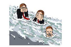 flooded cartoon