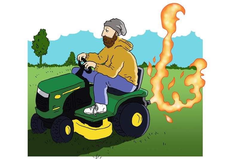 lawnmower cartoon