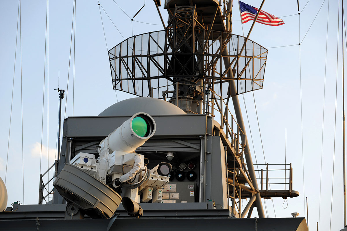 Laser on warship USS Ponce