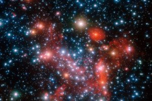 A field of bright dots