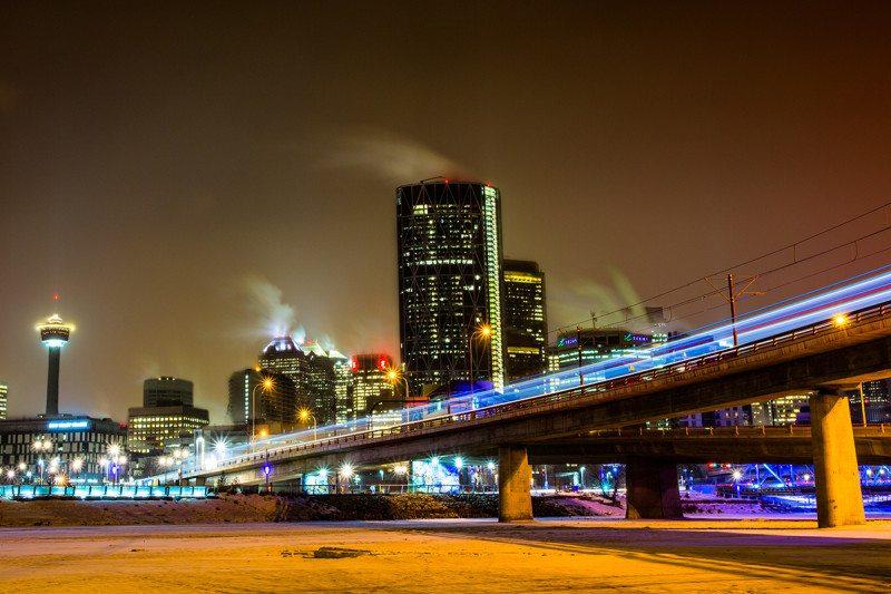 lights in Calgary