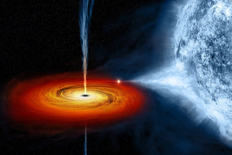 A black hole swallowing a star