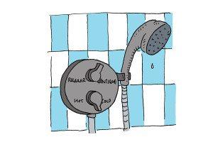 cartoon shower