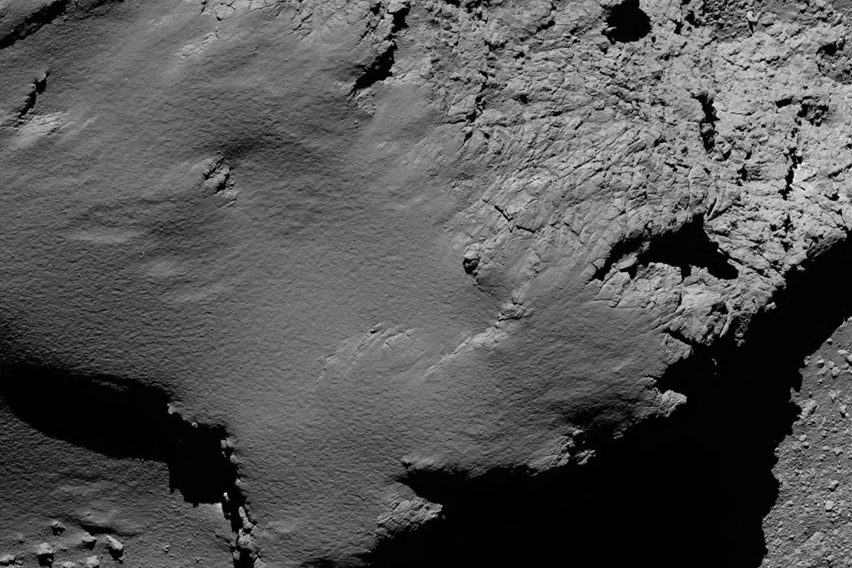 Comet 67P/C-G viewed with Rosetta's OSIRIS NAC on 30 September 2016, 8.9 km from the surface