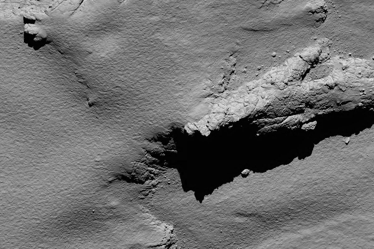 An image taken of the landing spot from about 5.7 km up