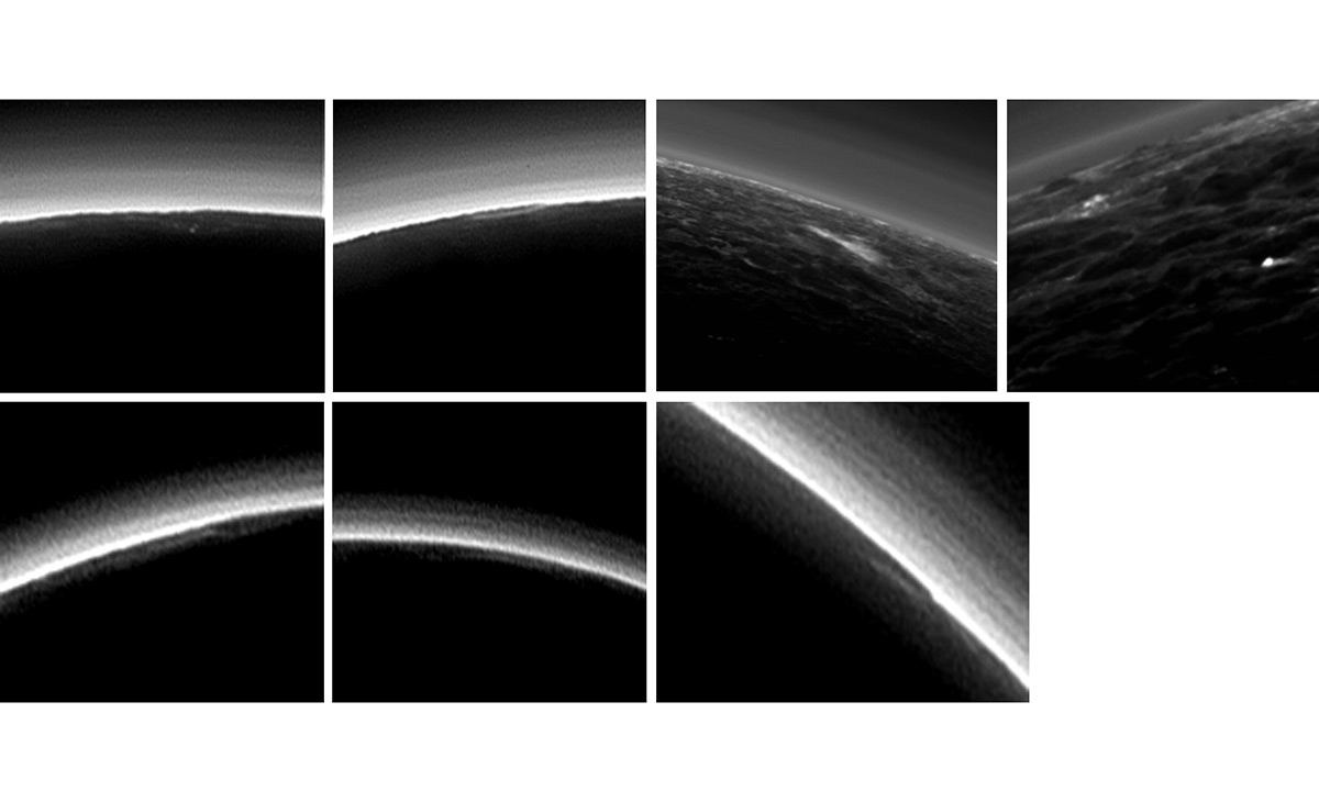 Pluto seven images