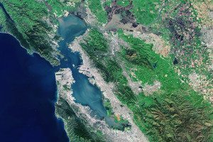 The San Francisco Bay Area from above