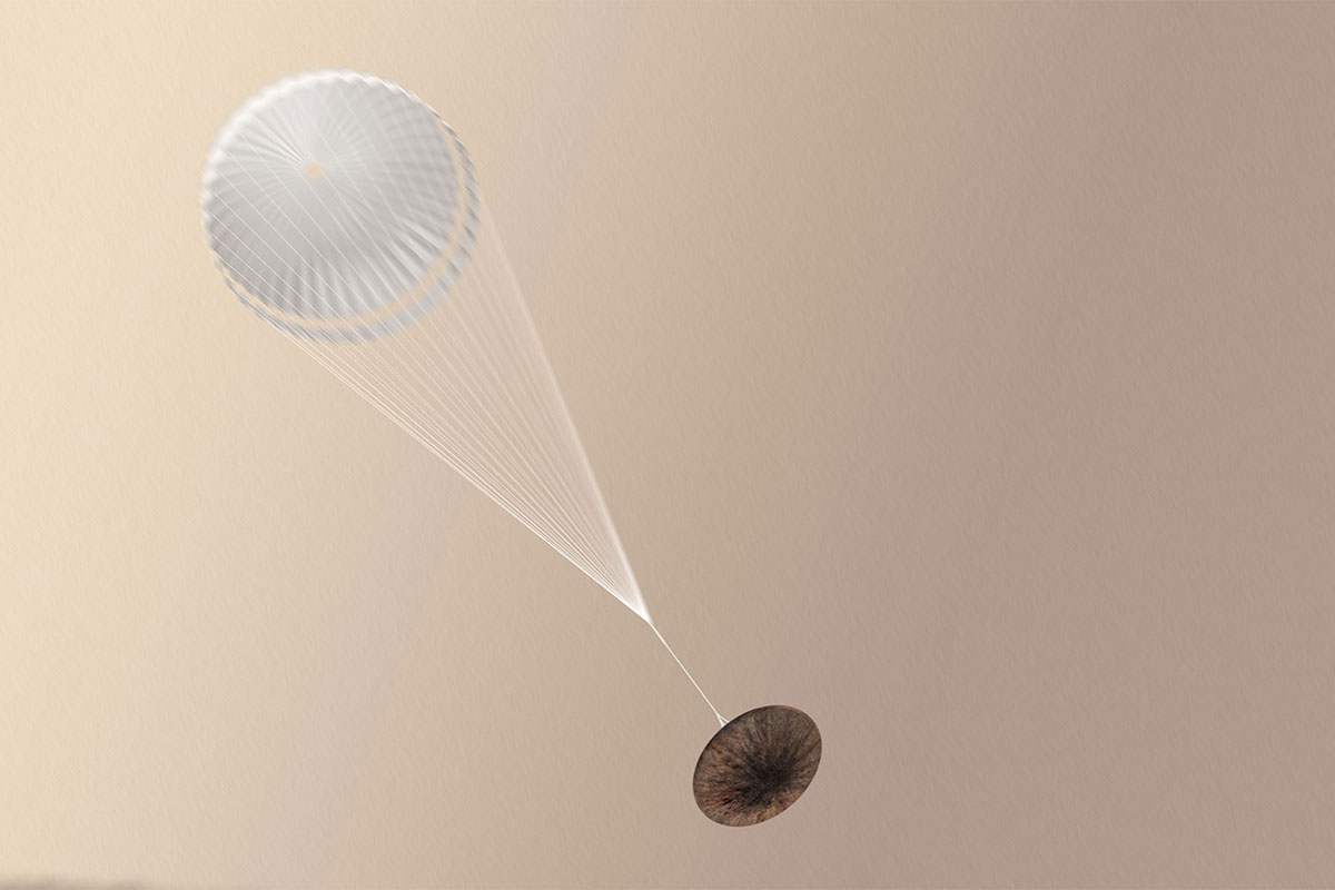 The lander may have been lost when it released its parachute