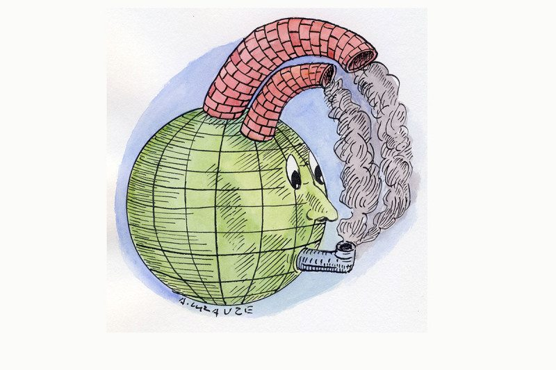 gasping planet cartoon