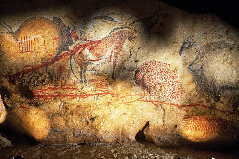Code hidden in stone age art may be the root of human writing
