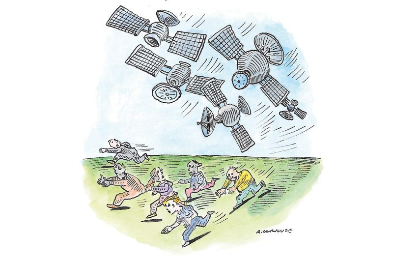 satellite cartoon