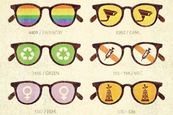 glasses artwork