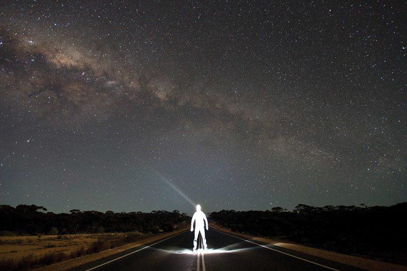 figure in road