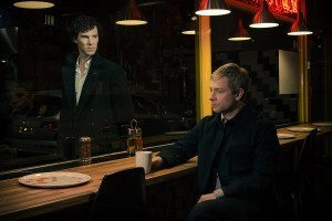 Scene from the BBC's Sherlock