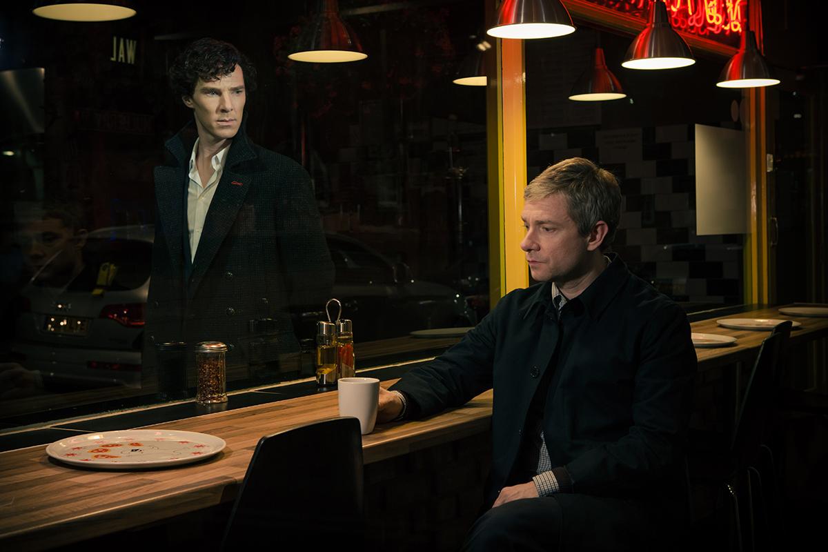 Scene from the BBC's Sherlock