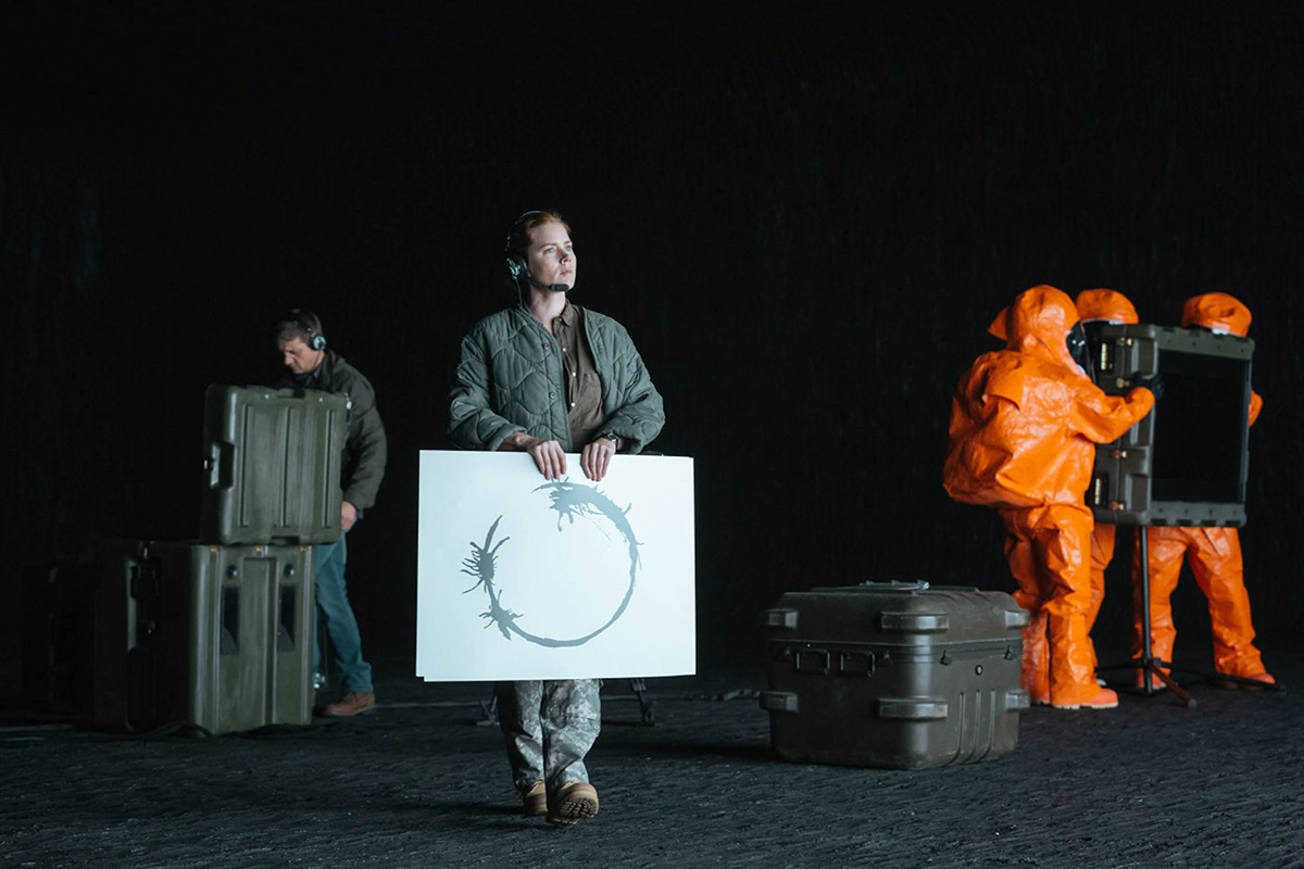 Image from the film Arrival