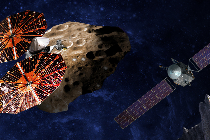 Metal asteroid and Trojans selected for next NASA missions