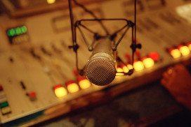 Radio mic in studio