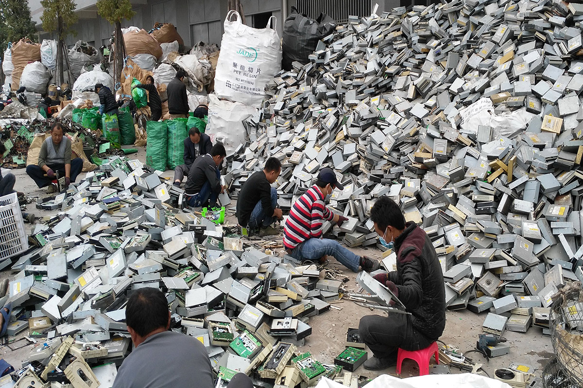 Chinese e-waste factory